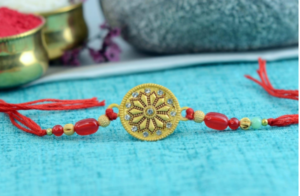 Gold Shield Rakhi
